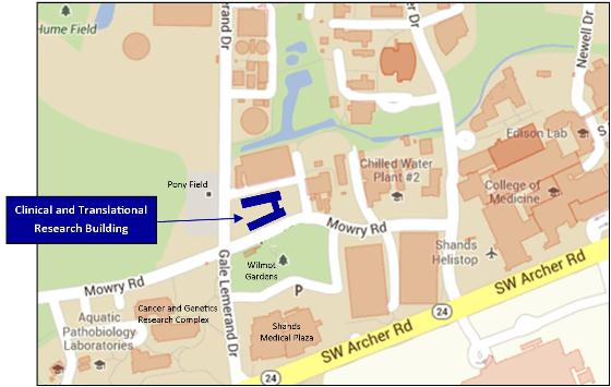 CTRB on UF Campus Map